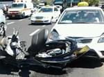 תאונה, אופנוע, מונית, פצוע