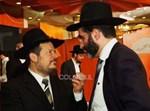 חיים כהן עם ראש העיר הקודם, אורי לפוליאנסקי. צילום: ישראל ברדוגו