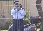 שוטר עם מכמונת מהירות. צילום ארכיון