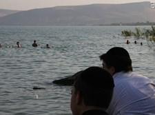 מטיילים כנרת מים נהר מג'ארסה