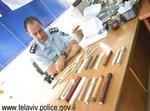 המזוזות שנמצאו אצל החשוד. צילום: דובר משטרת ישראל