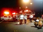 """התאונה בכביש 6. צילום: בועז שץ - מדור צילום זק""""א (לחץ להגדלה)"""