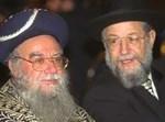 הרבנים ישראל מאיר לאו ואליהו בקשי דורון. צילום ארכיון