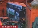 האוטובוס המרוסק. צילום: ערוץ 2