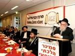 """הרב הראשי הגאון הישיש רבי מאיר יוסט שליט""""א אשר גילו מתקרב לגיל 100 נואם בפני הרבנים"""