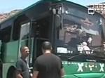 האוטובוס הפגוע. צילום מסך: ערוץ 2