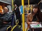 הפרובוקציה לא עבדה. האוטובוס השקט. צילום: פלאש 90