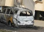 רכבו השרוף של אריאל. צילום: בחדרי חרדים