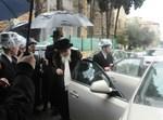 """האדמו""""ר מגיע לירושלים. צילום: שמואל דריי"""