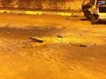 זירת הנפילה. צילום: חדשות 24