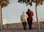 זוג קשישים. צילום: פלאש 90