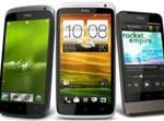 HTC One X (במרכז) עם האחים הקטנים  צילום: HTC