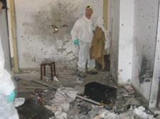 """מתנדבי זק""""א מתוך בית חב""""ד לאחר המתקפה"""