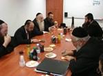 הפגישה בלשכת השר לעניני דת. צילום: בחדרי חרדים