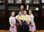 ר' נחום ששונקין, עם ארבעה מילדיו