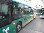 גרפטי שנכתב על אוטובוס אגד במאה שערים. צילום: חדשות 24