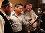 האחים פיאמנטה וגד אלבז, באולפן. צילומים: ישראל ברדוגו