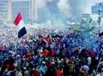 המחאה במצרים, הבוקר (צילום מסך: הטלויזיה המצרית)