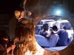 שריפת בובה בדמות חייל חרדי. צילום: נועם רבקין-פנטון פלאש 90 וחיים גולדברג