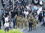 החיילים ביציאה ממאה שערים. צילום: החדשות החמות