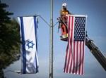 """דגלי ישראל וארה""""ב לקראת ביקור הנשיא טראמפ (יונתן זינדל, פלאש 90)"""