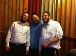 ברוך ויזל עם המעבד יהושי פריד והגיס זאב פליגמן