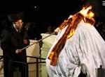 """האדמו""""ר מבאיאן בהלקה במירון. צילום: יעקב כהן"""