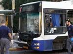 הפיגוע באוטובוס בבת ים. צילום: פלאש 90