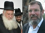 הרב קלמן בר מימין והרב משה חיים לאו משמאל