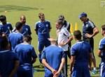 נבחרת ישראל עם המאמן, אלי גוטמן. פלאש90