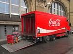 משאית של חברת קוקה קולה