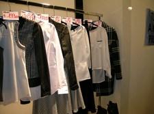שמלות, חולצות, קולבים, חנות, למכירה