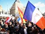 הפגנה נגד הטרור בצרפת, צילום: ישראל ברדוגו