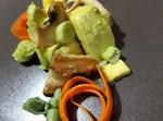 סלט אבוקדו ופטריות