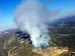 שריפה מתחת לבית מאיר בגן לאומי הרי יהודה