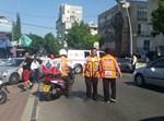 זירת התאונה ברחוב אברבנאל בבני ברק