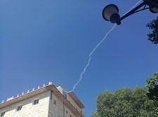 שובל עשן של טיל פטריוט בשמי צפת
