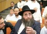 הרב פינטו בבית המשפט. צילום: דור עינב, וואלה