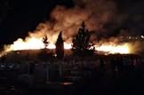 שריפת קוצים בבית העלמין בצפת