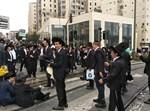 הפגנת הפלג הירושלמי בכניסה לירושלים