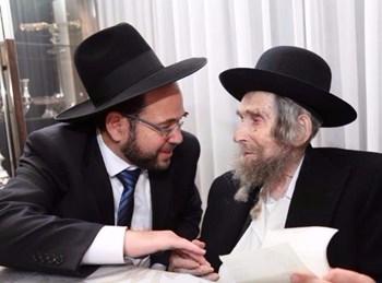 הרב נורדמן אצל הגראי''ל. צילום: חיים יצחקי