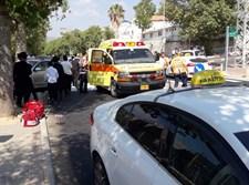 תאונה בה נפגעה הולכת רגל ממונית