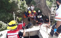 חילוץ נער מבור מים בבית מאיר