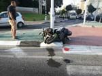 זירת תאונת אופנוע