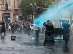 """התזת מים כחולים באמצעות מכת""""זית בכיכר השבת"""