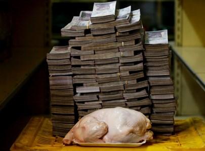 ונצואלה: עוף שלם במחיר 14.6 מיליון בוליברס - 2.22 דולר