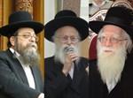 הרבנים רבי אברהם אלטמן, רבי שמואל דוד גרוס ורבי ישראל בונים שרייבר