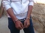 המחבל שנעצר הבוקר. צילום: דוברות המשטרה