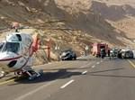 פינוי באמצעות מסוק מתאונה בכביש ים המלח