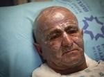השוטר משה חן בבית החולים. צילום: פלאש 90